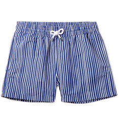 Frescobol Carioca - Tracos Striped Mid-Length Swim Shorts