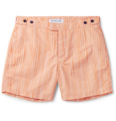 Frescobol Carioca Tracos Striped Mid-Length Swim Shorts