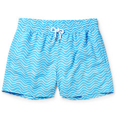 Frescobol Carioca Ondas Slim-Fit Striped Mid-Length Swim Shorts