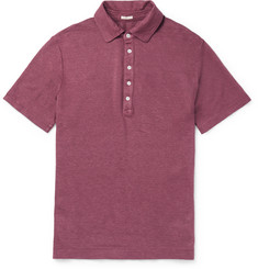 Massimo Alba Slim-Fit Linen Polo Shirt