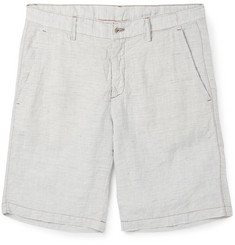 Massimo Alba Slim-Fit Striped Linen Shorts
