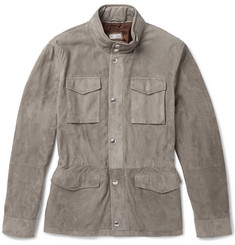 Brunello Cucinelli Perforated Suede Field Jacket