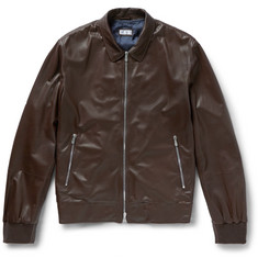 Brunello Cucinelli - Perforated Leather Bomber Jacket
