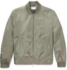 Brunello Cucinelli Silk Bomber Jacket