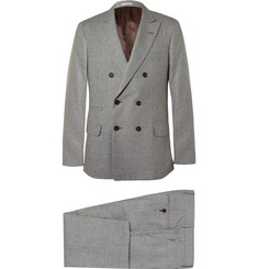 Brunello Cucinelli - Grey Slim-Fit Houndstooth Linen, Wool and Silk-Blend Suit