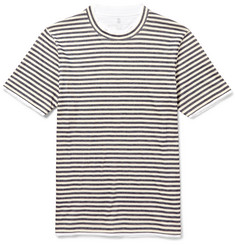 Brunello Cucinelli Layered Striped Cotton-Jersey T-Shirt