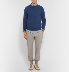 Brunello Cucinelli Cotton-Blend Jersey Sweatpants