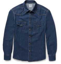 Brunello Cucinelli - Slim-Fit Denim Western Shirt