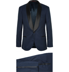 Brunello Cucinelli - Navy Slim-Fit Shawl-Collar Cashmere Tuxedo