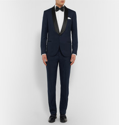 Brunello Cucinelli Navy Slim-Fit Shawl-Collar Cashmere Tuxedo