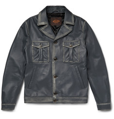 Tod's Waxed Nappa Leather Pilot Jacket