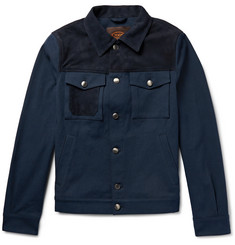 Tod's Nubuck-Panelled Denim Jacket