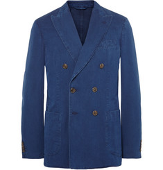 Tod's Blue Double-Breasted Denim Blazer