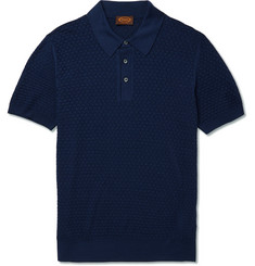 Tod's Slim-Fit Knitted Silk Polo Shirt