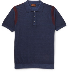 Tod's Tie-Dye Cotton-Jersey Polo Shirt