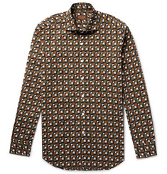 Tod's - Slim-Fit Geometric-Print Cotton Shirt