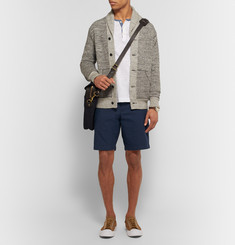 Club Monaco Maddox Striped Cotton-Pincord Shorts