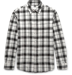 Club Monaco - Slim-Fit Checked Linen and Cotton-Blend Shirt