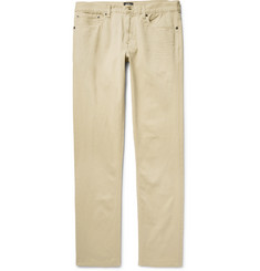 Club Monaco - Slim-Fit Garment-Dyed Cotton-Twill Trousers