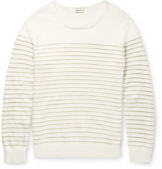 Club Monaco Striped Cotton-Blend Sweater