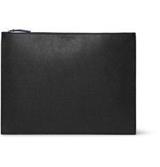 Maison Margiela Grained-Lether Pouch