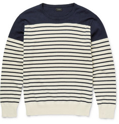J.Crew - Slim-Fit Striped Cotton and Cashmere-Blend Sweater
