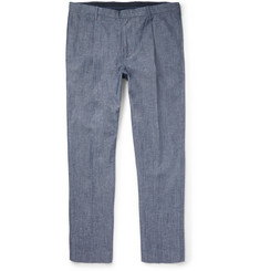 J.Crew Tapered Pleated Denim Trousers