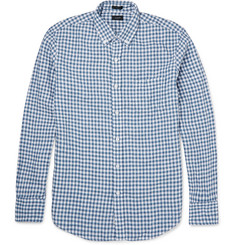 J.Crew Button-Down Collar Checked Linen Shirt