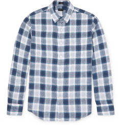 J.Crew Checked Linen Shirt