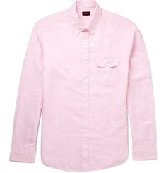 J.Crew Button-Down Collar Linen and Cotton-Blend Shirt