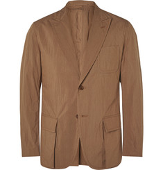Camoshita - Brown Unstructured Cotton-Blend Blazer
