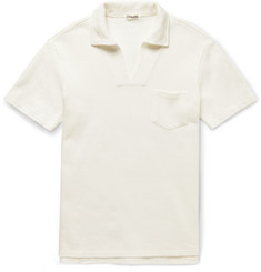 Camoshita Textured-Cotton Polo Shirt