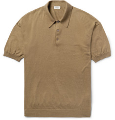 Camoshita - Slim-Fit Cotton, Silk and Linen-Blend Polo Shirt