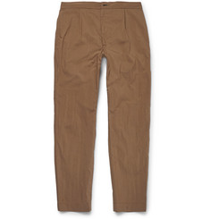 Camoshita - Tapered Cotton-Blend Trousers