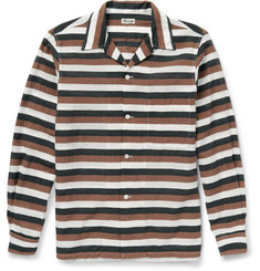 Camoshita - Striped Cotton, Linen and Silk-Blend Shirt