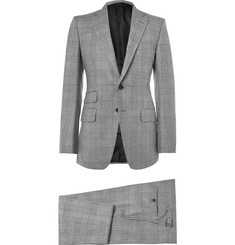 Tom Ford - Grey Slim-Fit Checked Mohair, Silk and Wool-Blend Three-Piece Suit