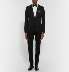 Tom Ford White Slim-Fit Pleated Cotton Tuxedo Shirt
