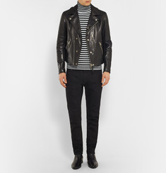 Tom Ford Slim-Fit Striped Cotton and Cashmere-Blend Rollneck Sweater
