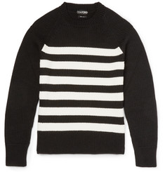 Tom Ford Slim-Fit Striped Merino Wool Sweater