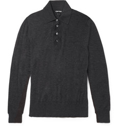 Tom Ford Slim-Fit Cashmere Polo Shirt