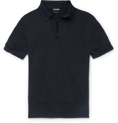 Tom Ford Knitted Cotton Polo Shirt