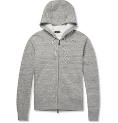 Tom Ford Zip-Up Knitted Cotton-Blend Hoodie