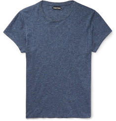 Tom Ford - Slim-Fit Marled Cotton-Jersey T-Shirt