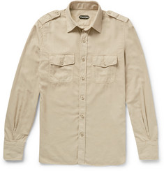 Tom Ford - Slim-Fit Washed Cotton-Twill Shirt