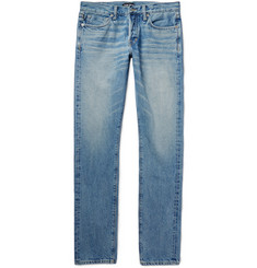 Tom Ford - Slim-Fit Washed Selvedge Denim Jeans