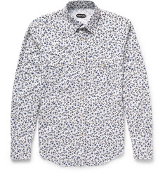 Tom Ford - Slim-Fit Floral-Print Cotton-Poplin Shirt