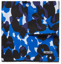 Tom Ford Camouflage-Print Silk Pocket Square