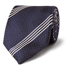 Tom Ford - Striped Silk-Jacquard Tie