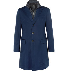 Hugo Boss - Slim-Fit Cotton-Blend Twill Coat with Detachable Shell Underlay