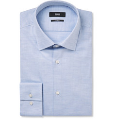 Hugo Boss Blue Jenno Cotton-Piqué Shirt